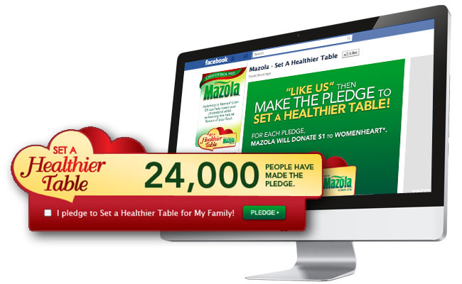 Mazola Set a Healthier Table program