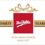 Mrs. Fields Cookies anniversary logo